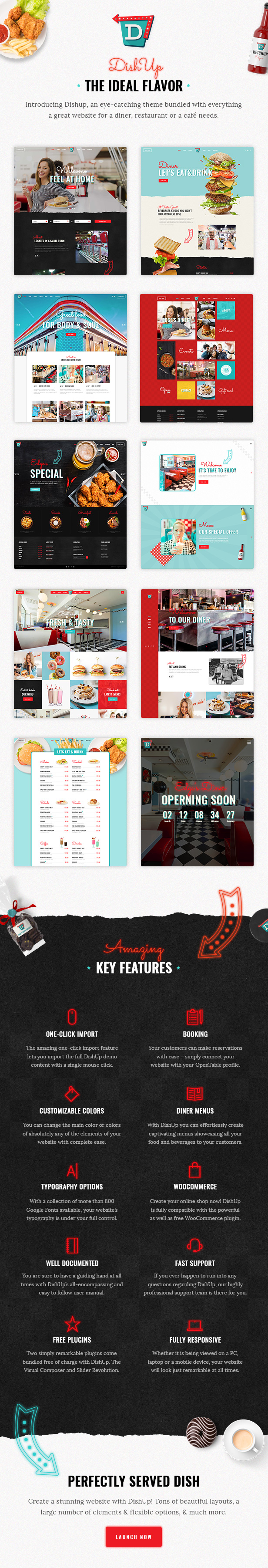 dishup - a theme for diners and restaurants (restaurants & cafes) DishUp – A Theme for Diners and Restaurants (Restaurants & Cafes) 01a